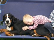 Carmen 1 year old and Theo, her owner :)