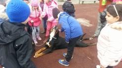 Carmen happy with kids